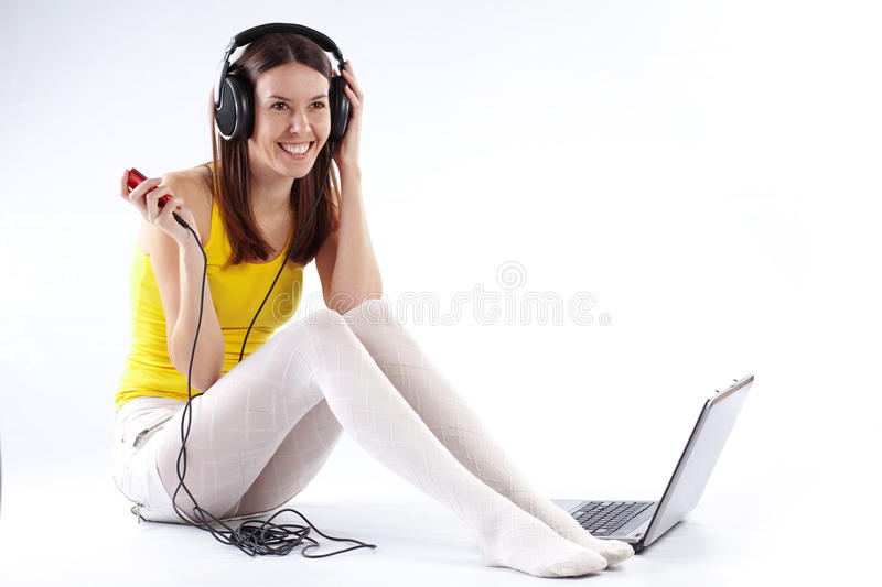 Download Student girl with laptop stock photo. Image of leisure - 13103906