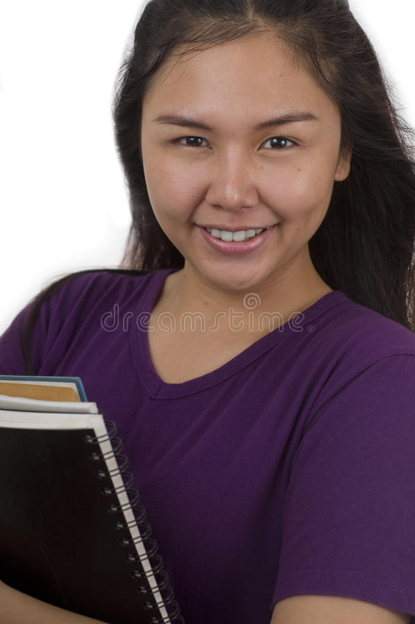 Student girl with pretty smile stock images