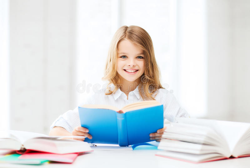 Download Student Girl Studying At School Stock Photo - Image: 33507050