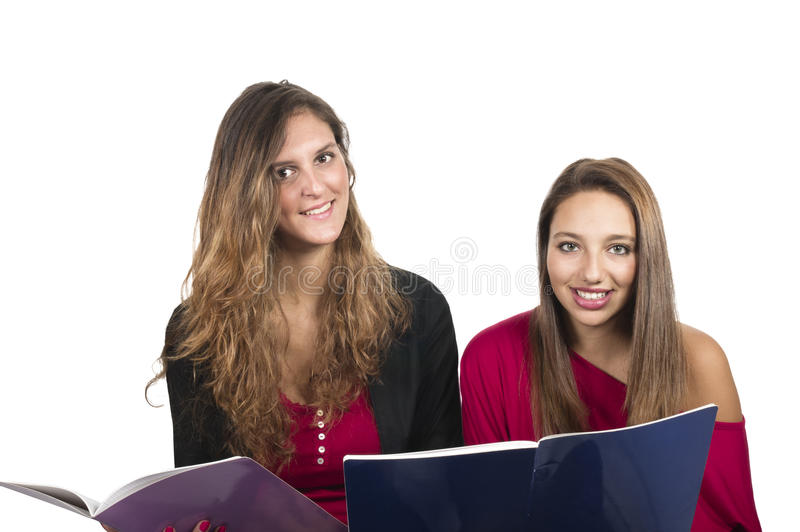 Student girls stock photography