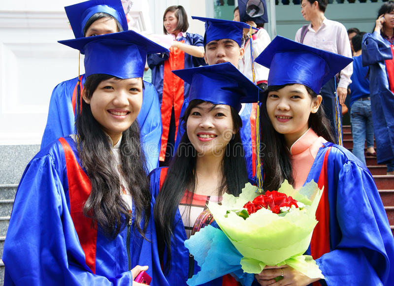Student In Gown, University Graduate Ceremony Editorial Stock Image ...