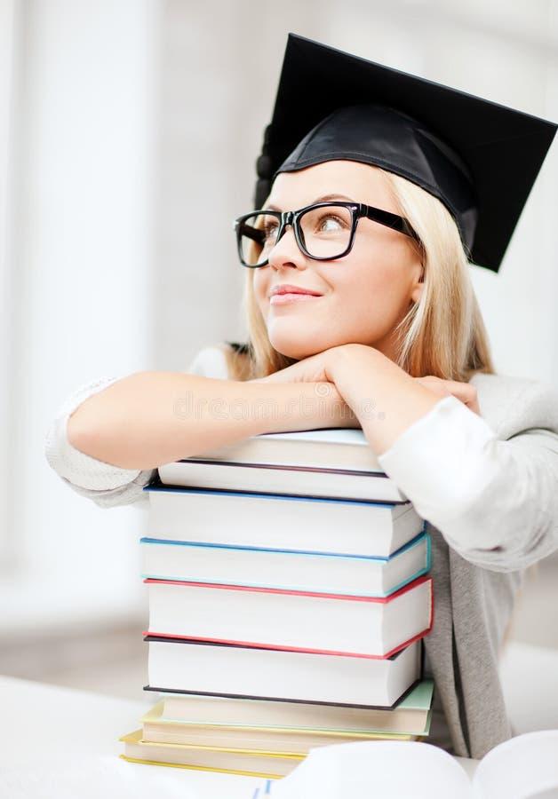Student in graduatie GLB royalty-vrije stock afbeelding