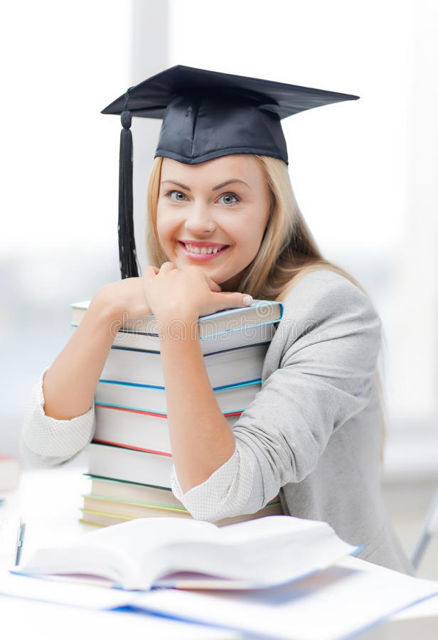Student In Graduation Cap Royalty Free Stock Photos