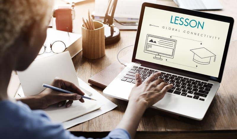 Student Graphic Concept van de lessen de Globale Connectiviteit royalty-vrije stock afbeelding