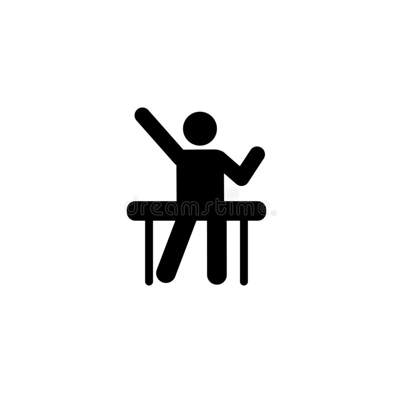 Student hand up school icon. Element of back to school illustration icon. Signs and symbol collection icon for websites, web. Design, mobile app, UI, UX on royalty free illustration