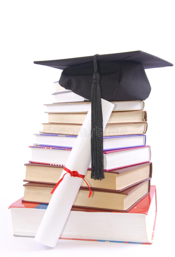 Free Student Hat, Diploma And Books Stock Photography - 17072272