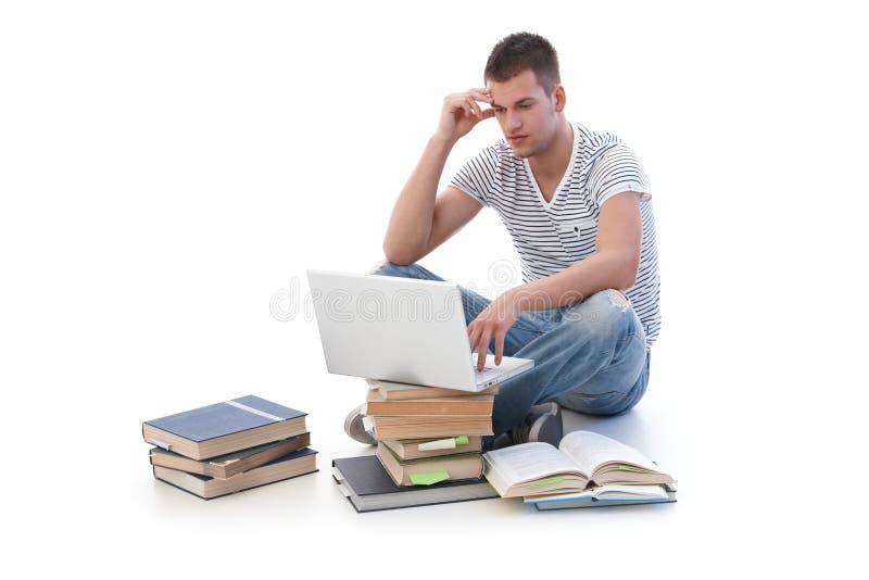 Student het bestuderen stock foto