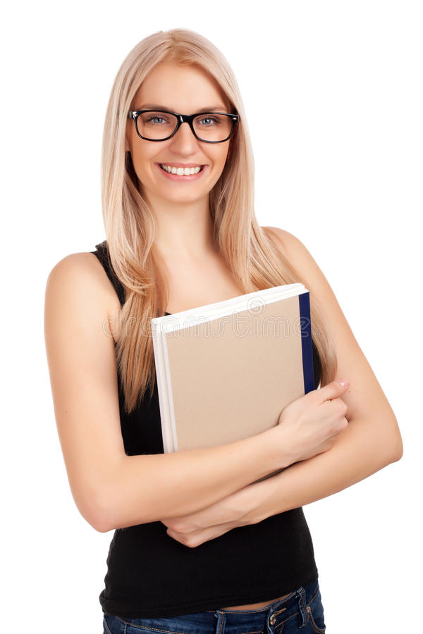 Download Student holding books stock image. Image of isolated - 28740011