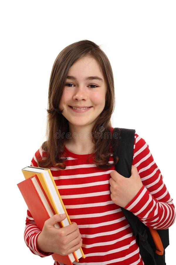 Student holding books stock photos