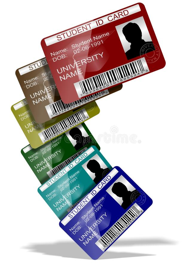 Student ID cards royalty free illustration