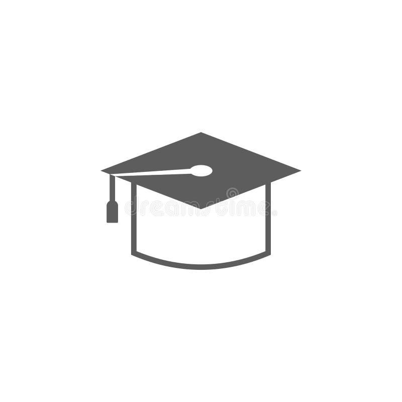 Student im Aufbaustudiumen-Kappenikone Element der Bildungsikone Erstklassige Qualitätsgrafikdesignikone Zeichen, Entwurfssymbol- vektor abbildung