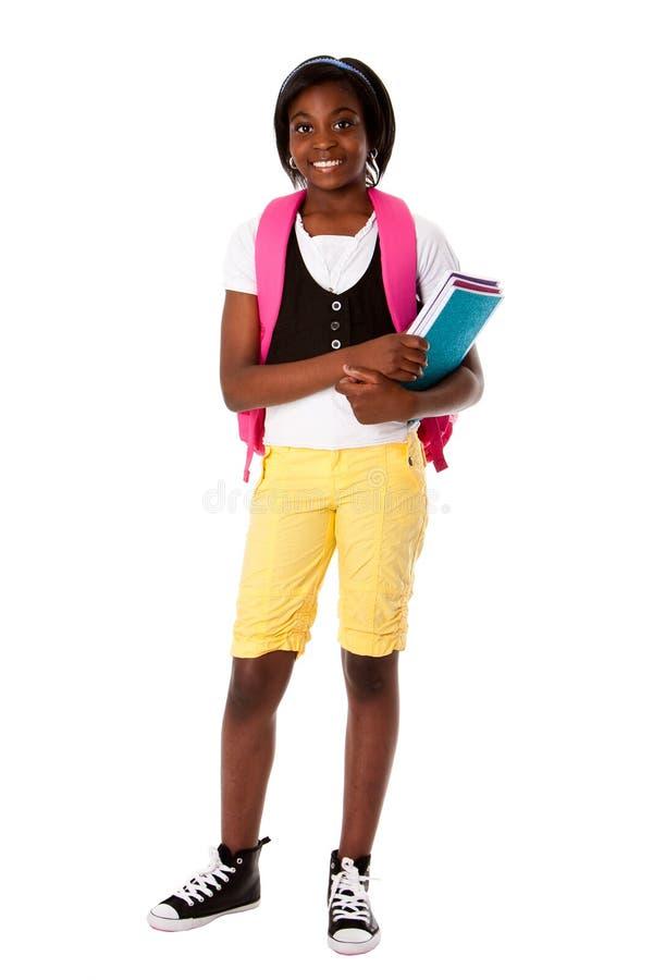 Student klaar voor school royalty-vrije stock afbeelding