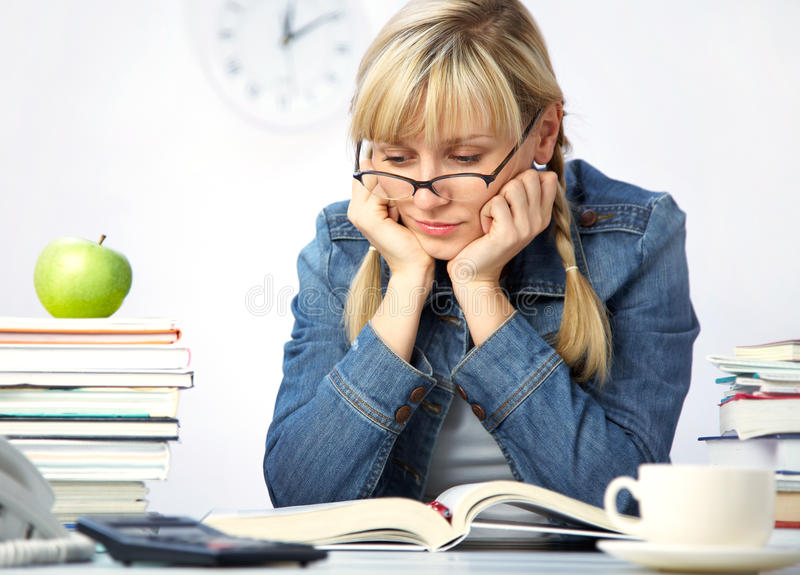 Download Student In Library Stock Photo - Image: 16889180