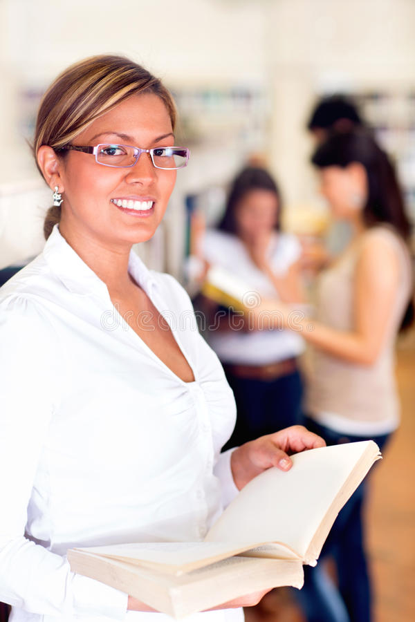 Download Student at the library stock photo. Image of researching - 27908024