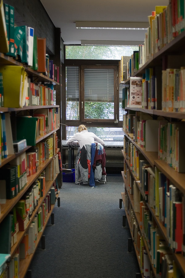 Download Student in Library stock image. Image of learn, project - 523837