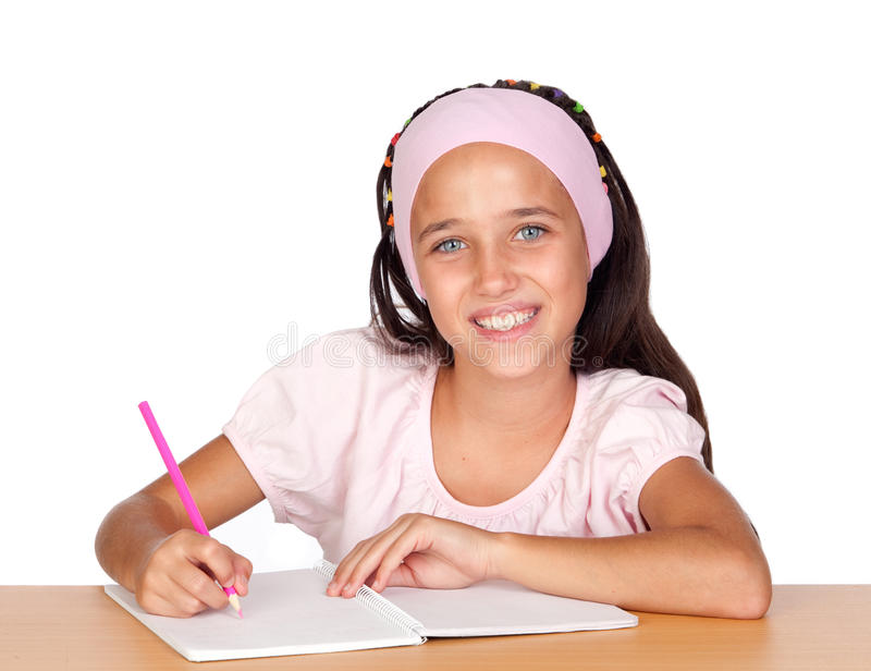 Student little girl royalty free stock photos
