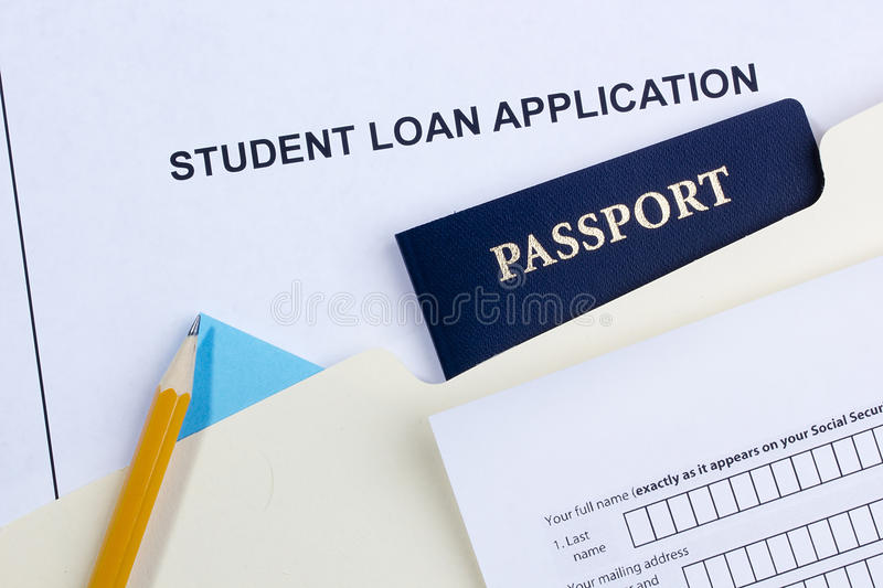 Student Loan Application royalty free stock images