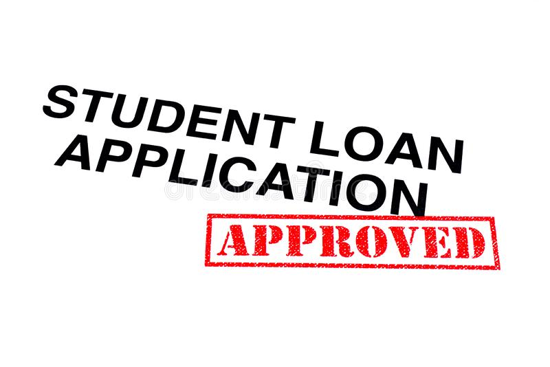 Student Loan Application Approved royalty-vrije stock foto