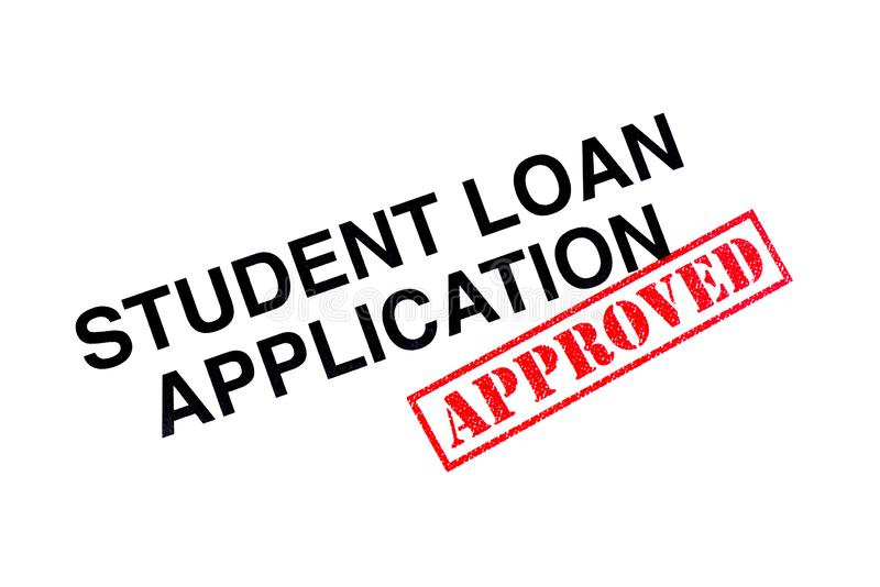 Student Loan Application Approved royalty-vrije stock foto's