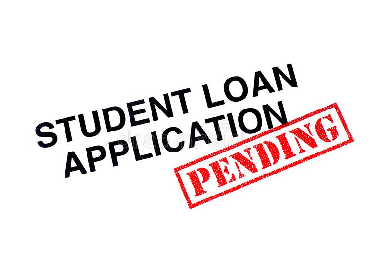 Student Loan Application Pending stock foto