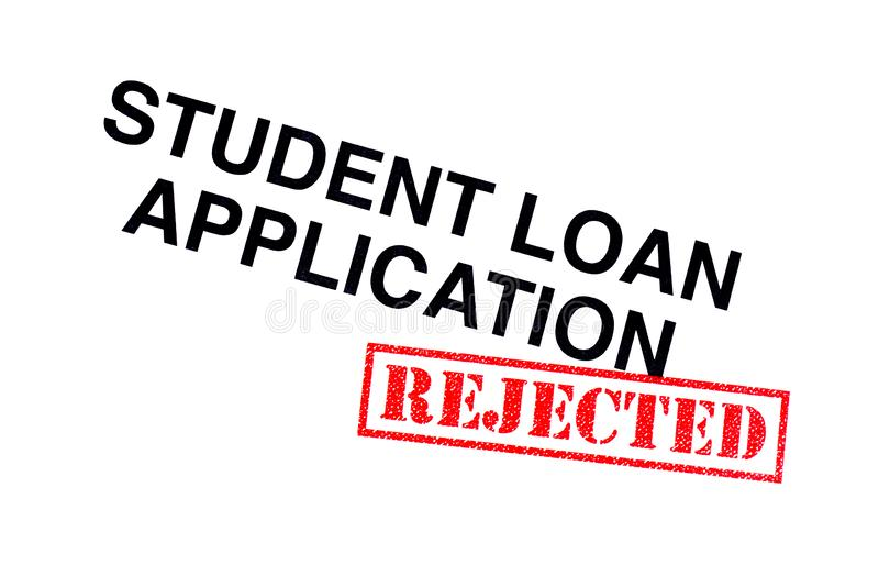 Student Loan Application Rejected stock fotografie