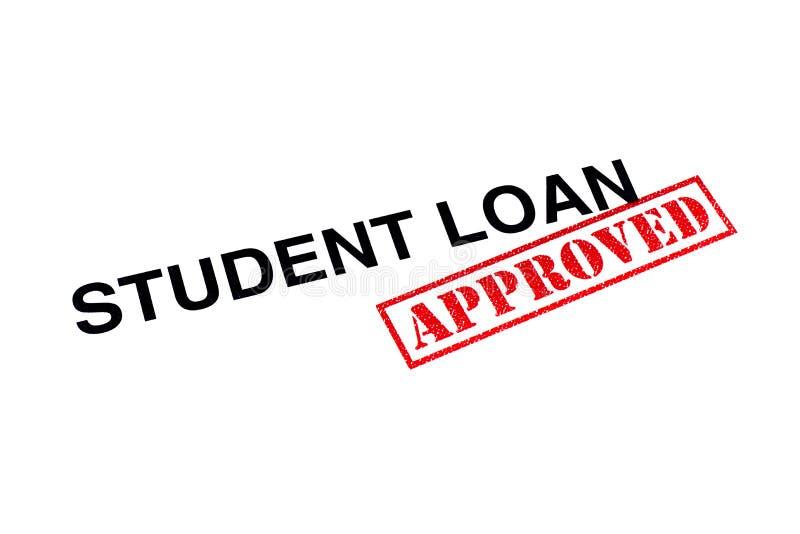 Student Loan Approved stock afbeeldingen