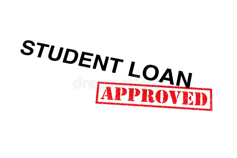 Student Loan Approved arkivfoton