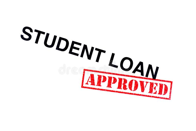 Student Loan Approved stock foto