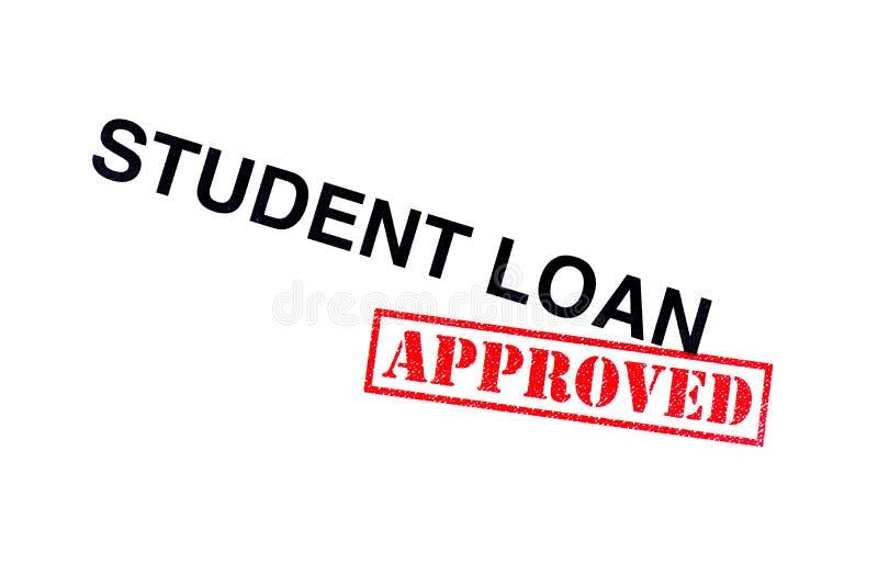 Student Loan Approved arkivfoto