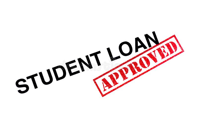 Student Loan Approved stock fotografie