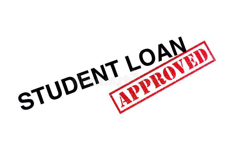 Student Loan Approved arkivbild