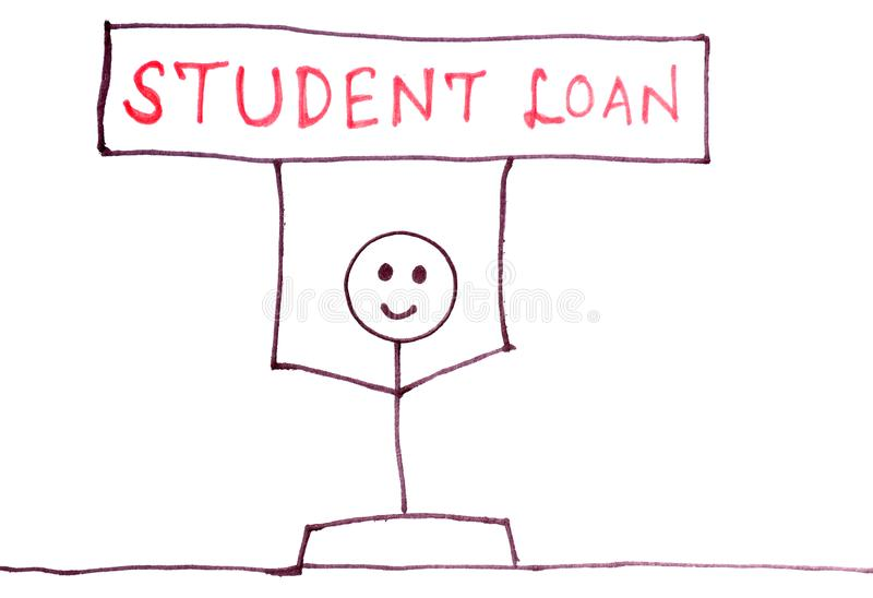 Student loan. Concept shot of student loan stock images