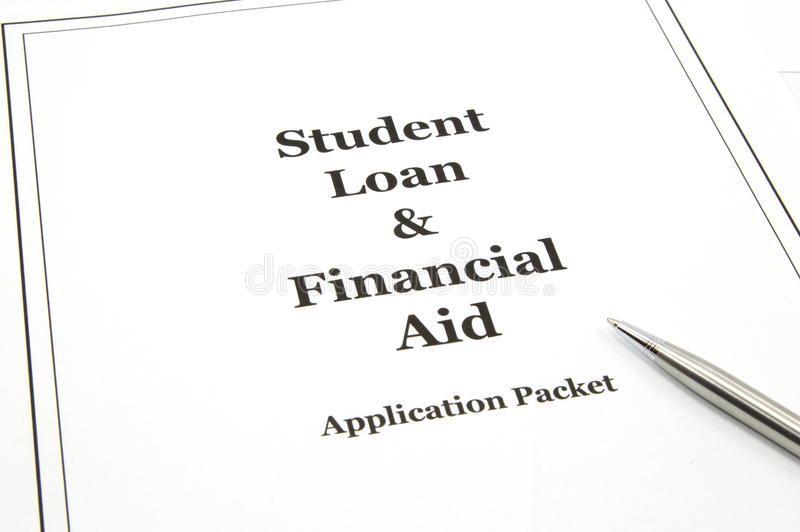 Download Student Loan And Financial Aid Application Packet Stock Image - Image of silver, student: 13825395
