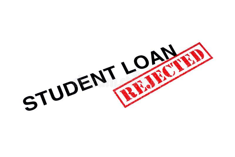 Student Loan Rejected royaltyfri foto