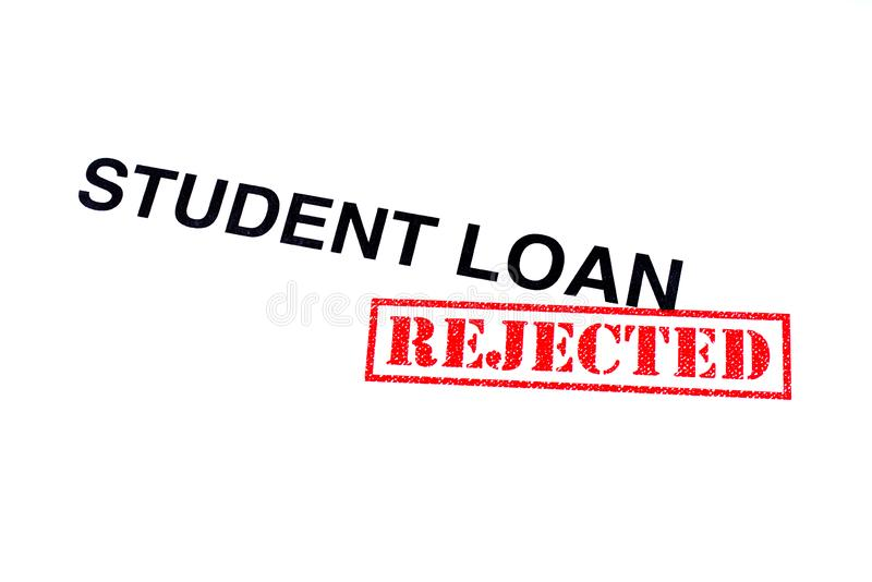 Student Loan Rejected royalty-vrije stock afbeelding