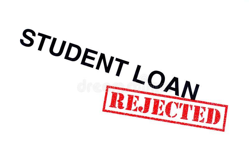 Student Loan Rejected arkivbilder