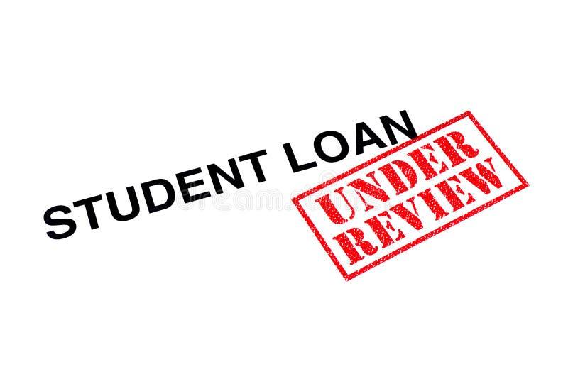 Student Loan Under Review arkivfoton