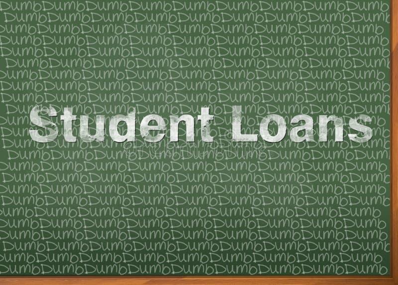 Student Loans sind stumm lizenzfreie abbildung