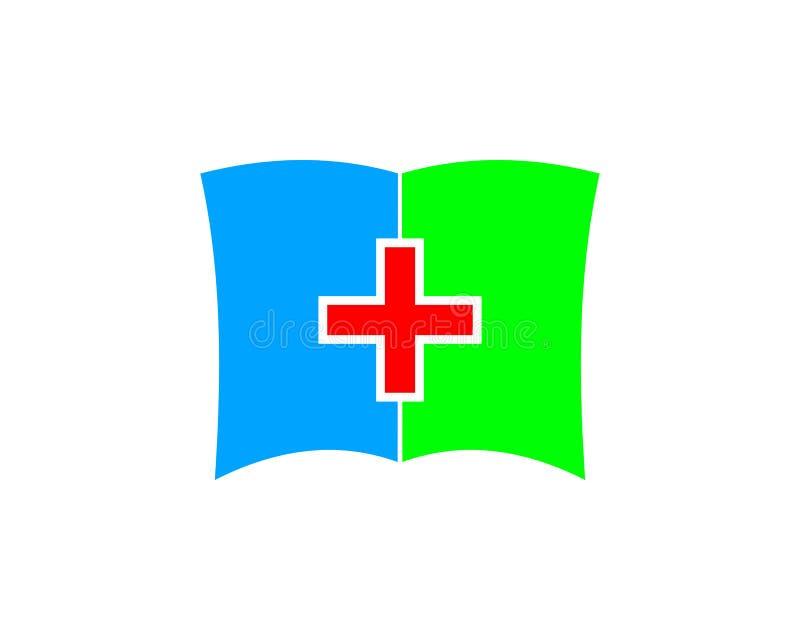 Student medycyny ikony loga projekta Książkowy element royalty ilustracja