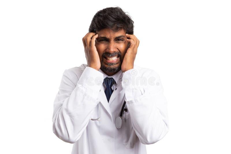 Student medycyny ma awarię fotografia royalty free