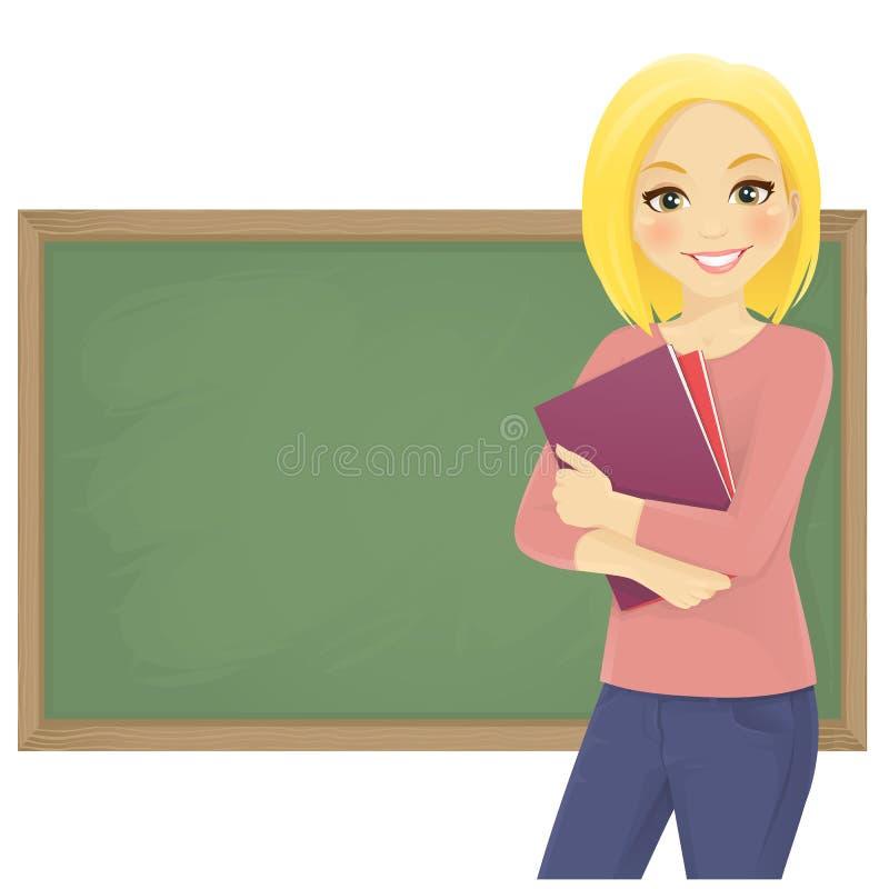 Student met boeken stock illustratie