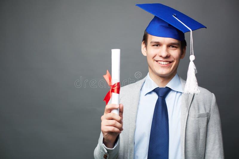 Student met diploma stock foto