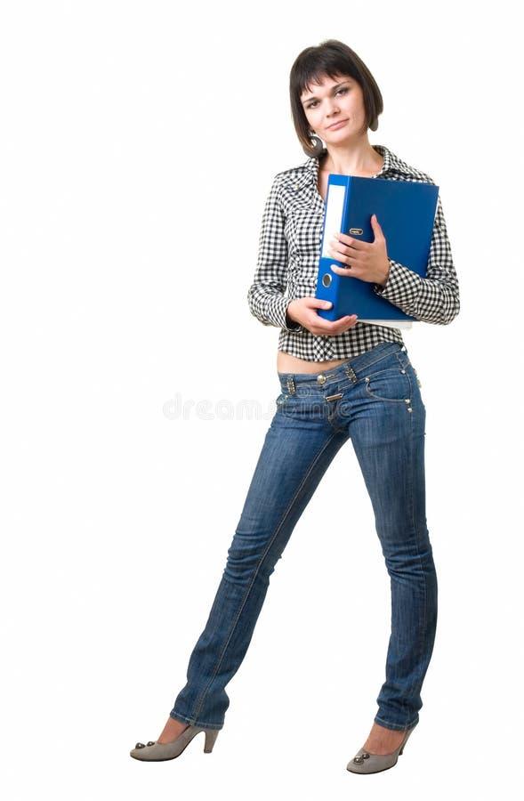 Student met dossier stock afbeeldingen