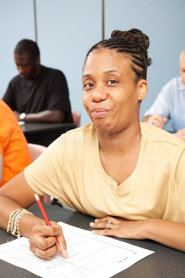 Student met Handicap stock afbeelding