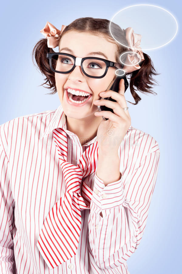 Download Student On A Mobile Call With Speech Bubbles Stock Image - Image: 28580195