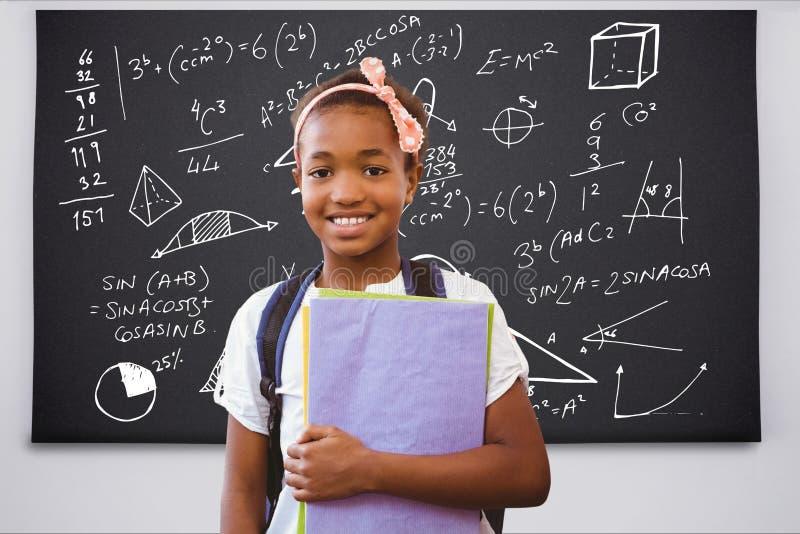 Student mot utbildningsbakgrund med diagram vektor illustrationer