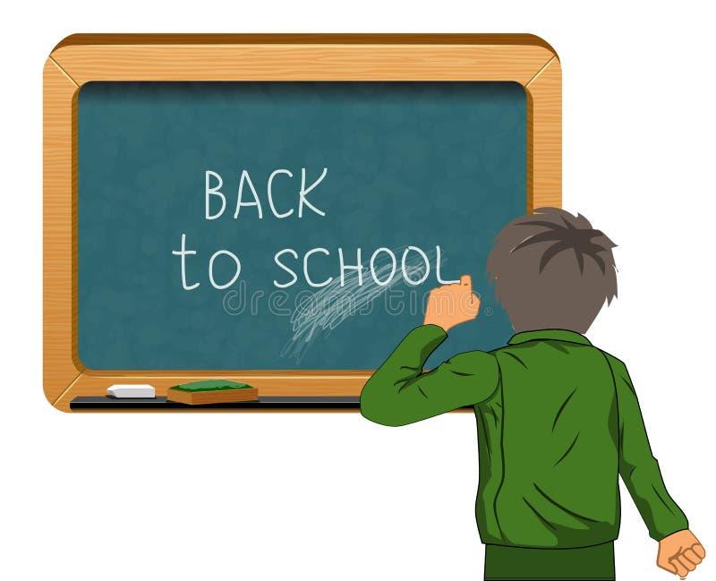 Student near blackboard vector vector illustration