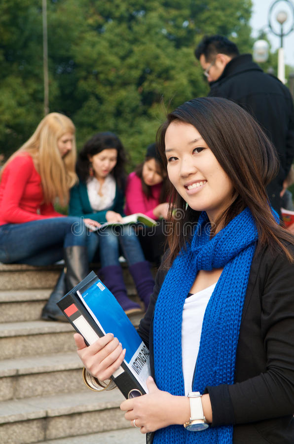Student with Notebook stock images