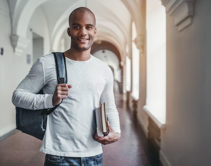 Student op universiteit stock foto
