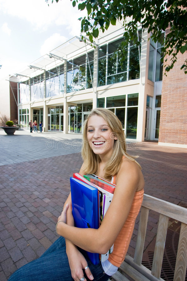 Download Student Outside Of School Stock Image - Image: 7428211